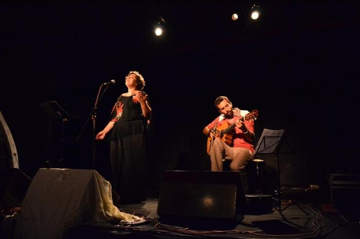 Inês Soares, fadista; Bartolomeo Barenghi, guitarra